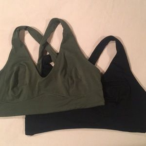 Target Pair of Crossback Sport Bras Size Medium